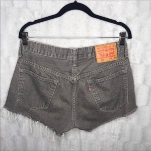 Levi's 569 Gray High Waisted Cut Off Jean Shorts